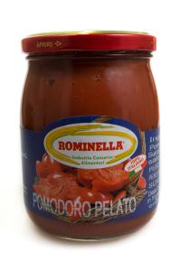 Pomodoro pelato con basilico